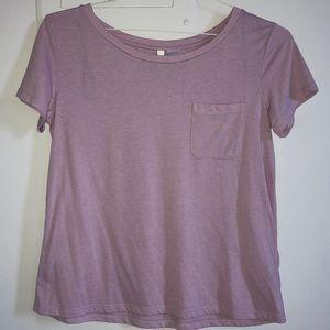 H&M Light Pink Pocketed T-Shirt